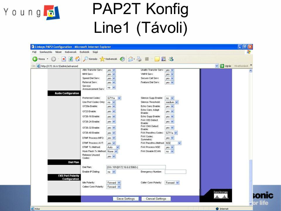 PAP2T Konfig Line1 (Távoli)