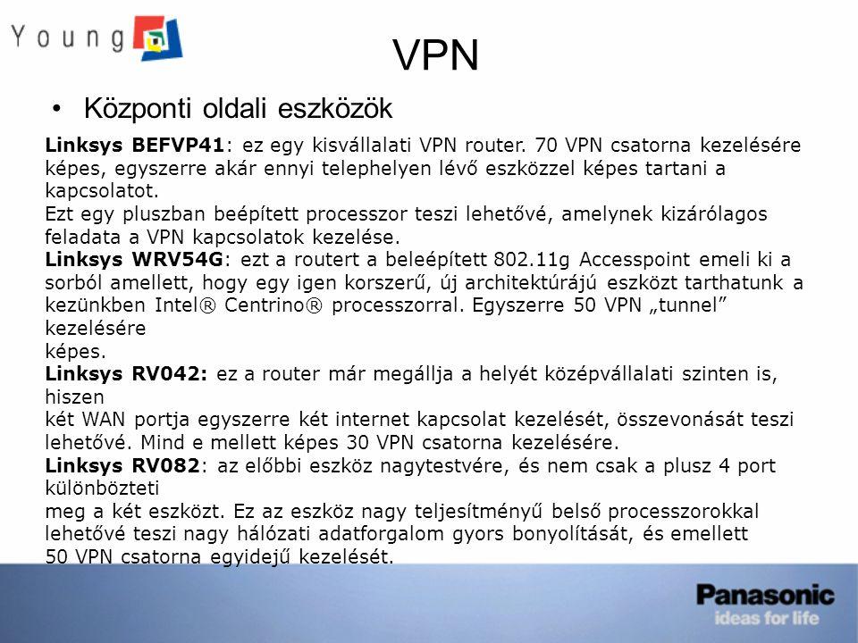 VPN Központi oldali eszközök