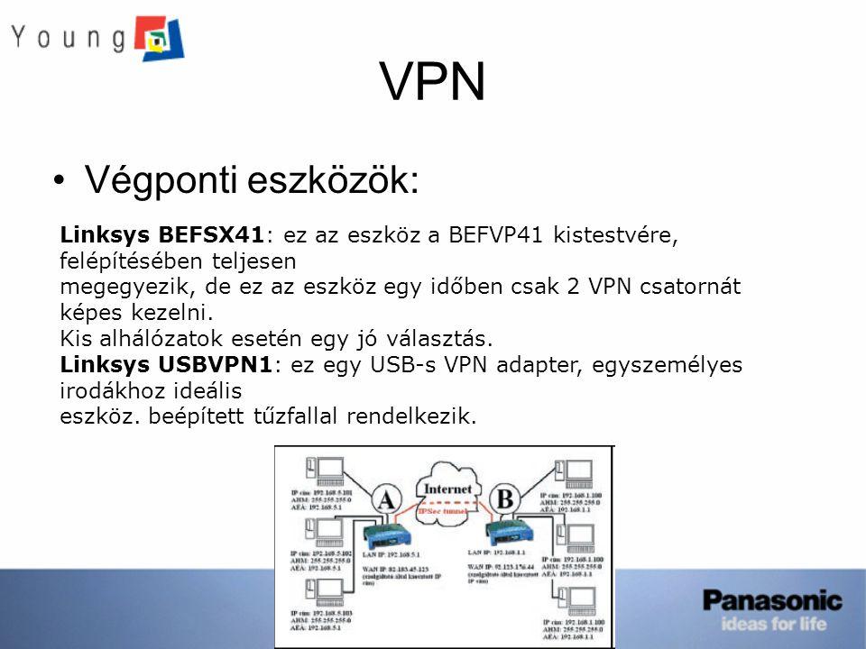 VPN Végponti eszközök:
