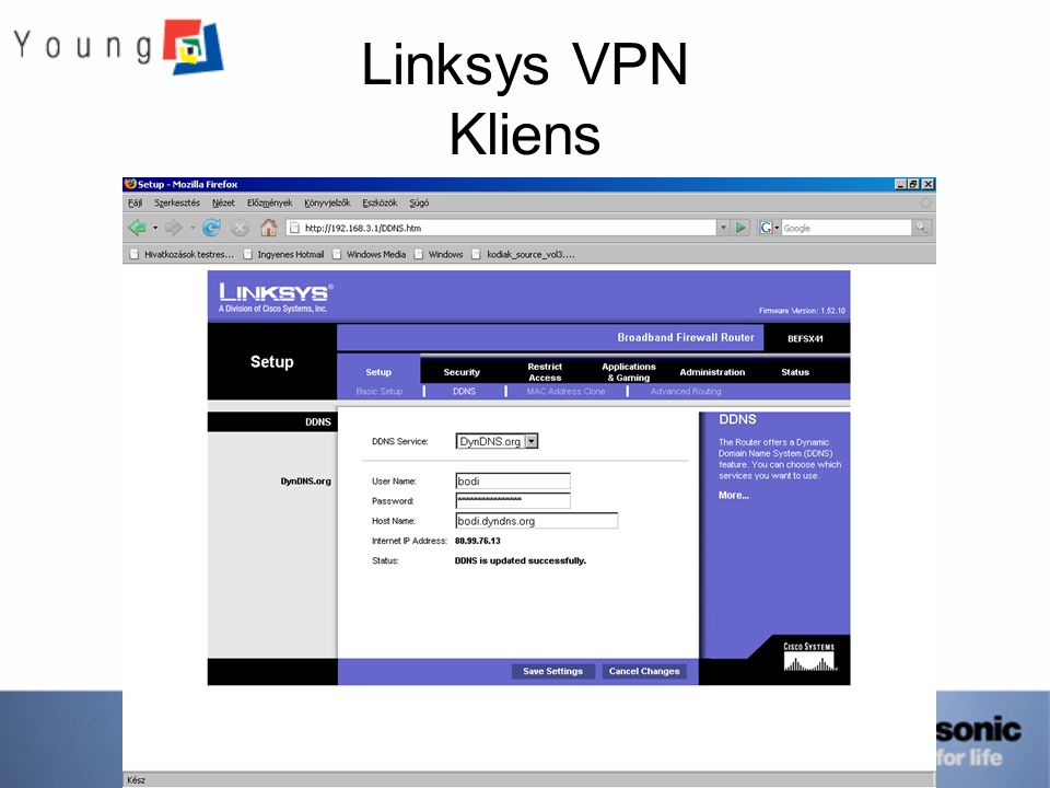Linksys VPN Kliens