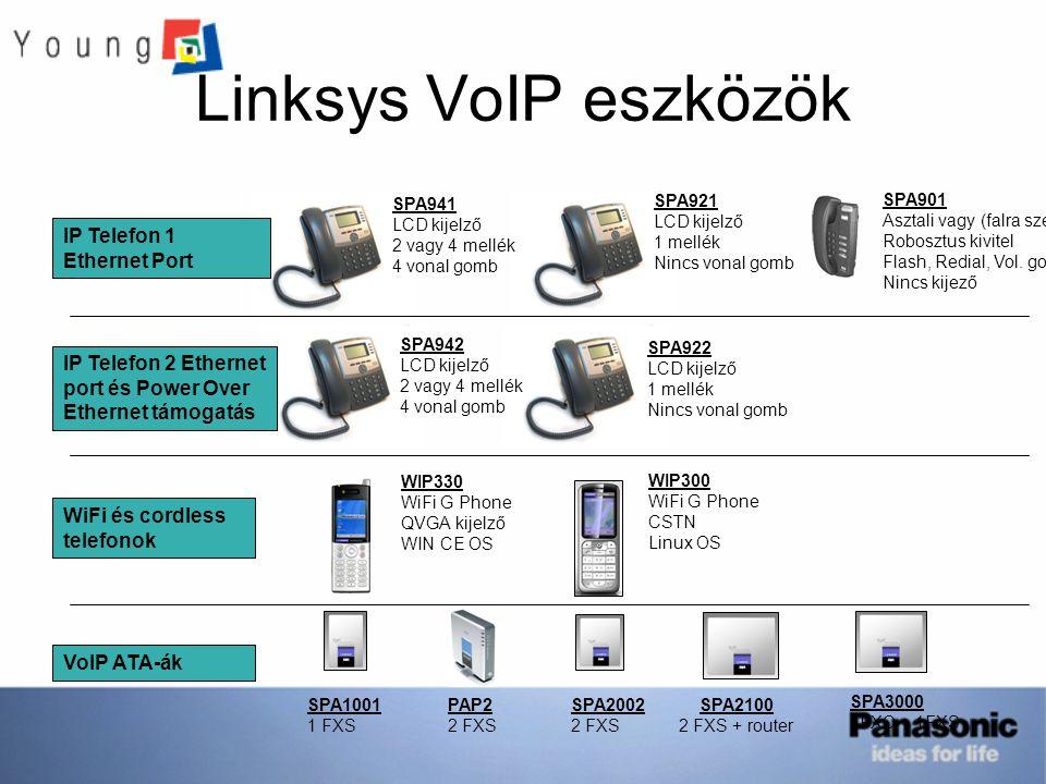 Linksys VoIP eszközök IP Telefon 1 Ethernet Port