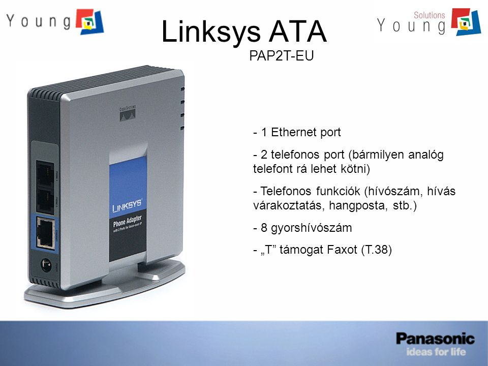 Linksys ATA PAP2T-EU 1 Ethernet port