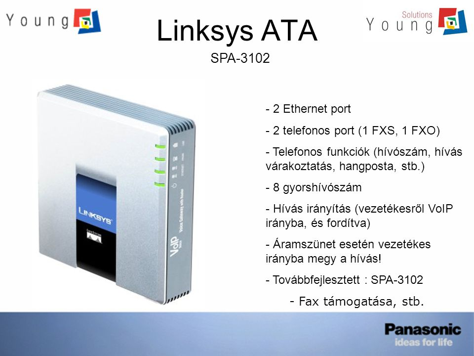 Linksys ATA SPA-3102 2 Ethernet port 2 telefonos port (1 FXS, 1 FXO)