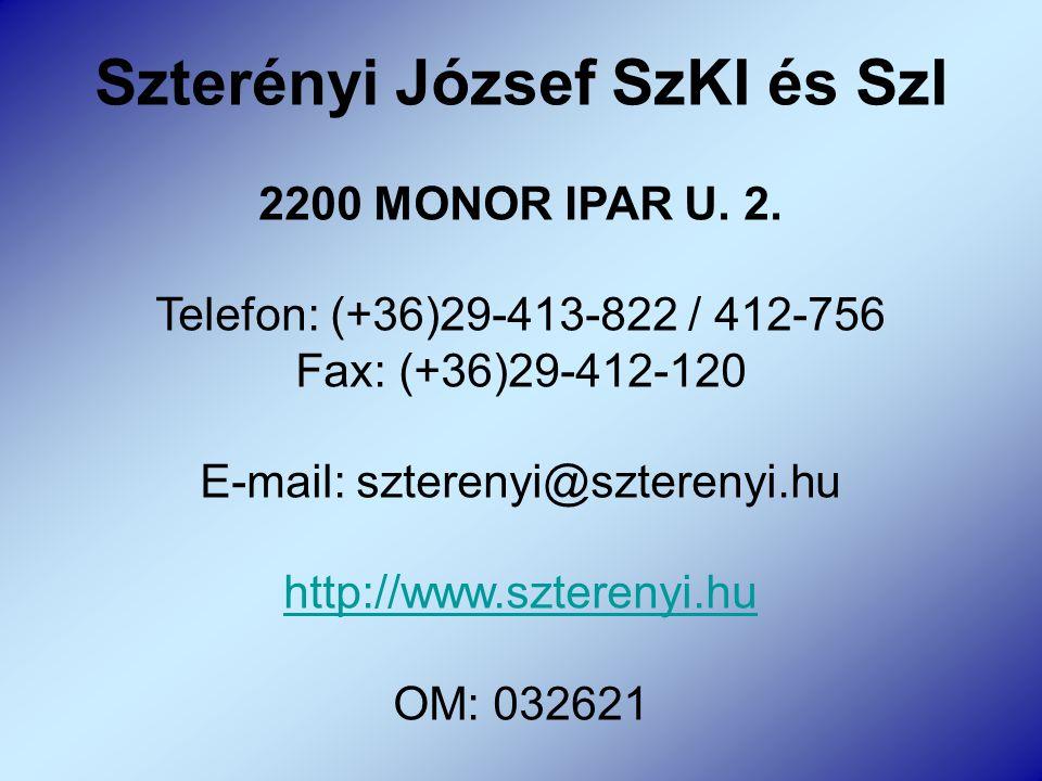 Szterényi József SzKI és SzI