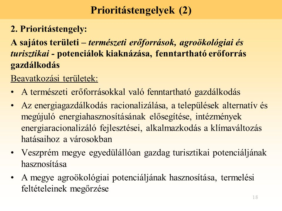 Prioritástengelyek (2)