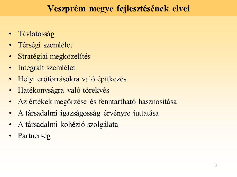 Veszprém megye fejlesztésének elvei