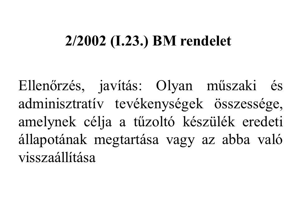 2/2002 (I.23.) BM rendelet