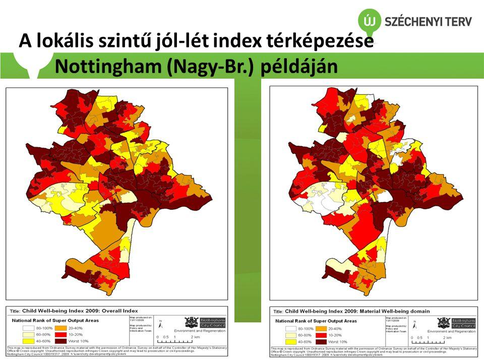 A lokális szintű jól-lét index térképezése Nottingham (Nagy-Br
