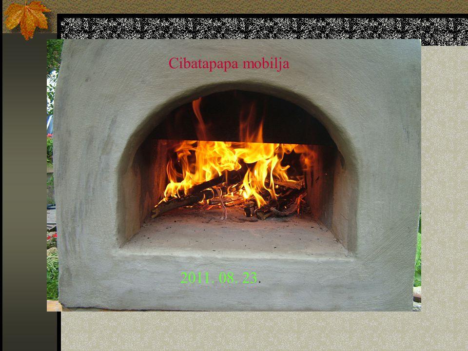 Cibatapapa mobilja Oszi típusú mobil kemence építése. 2011. 08. 23.