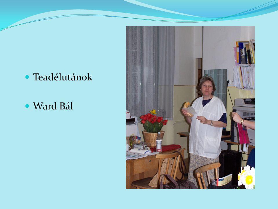 Teadélutánok Ward Bál