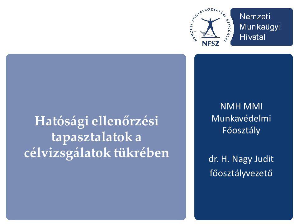 NMH MMI Munkavédelmi Főosztály dr. H. Nagy Judit főosztályvezető