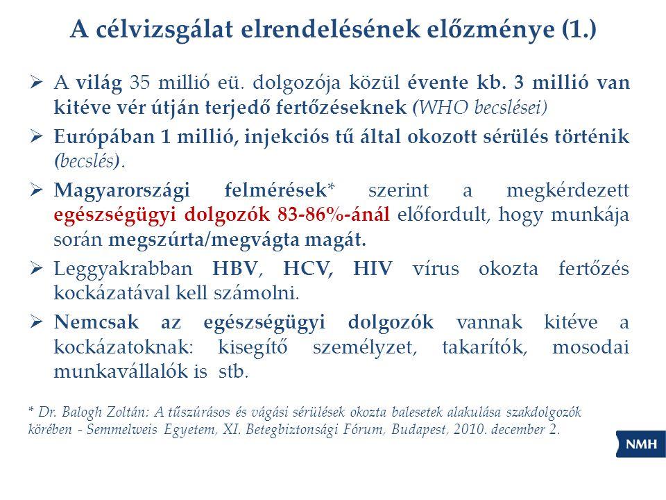 A célvizsgálat elrendelésének előzménye (1.)