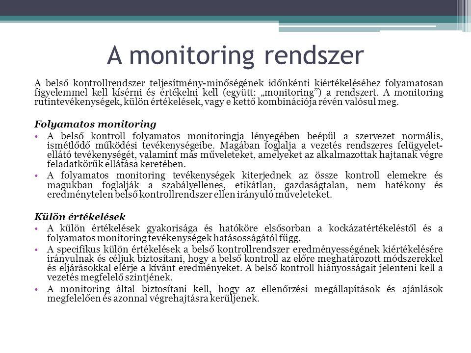 A monitoring rendszer