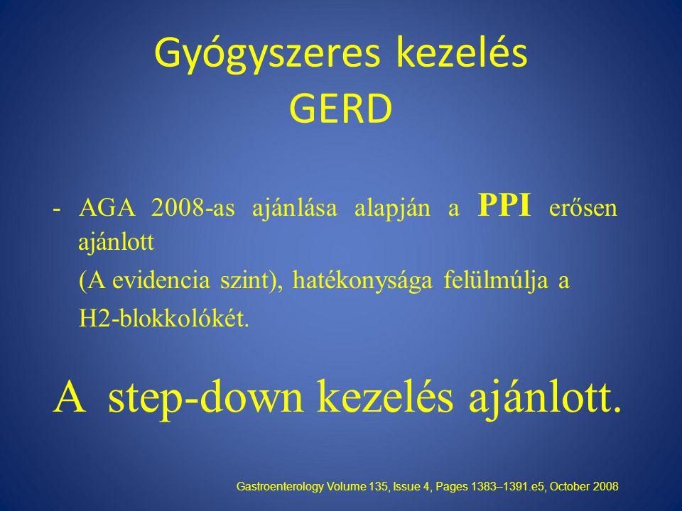 Gyógyszeres kezelés GERD