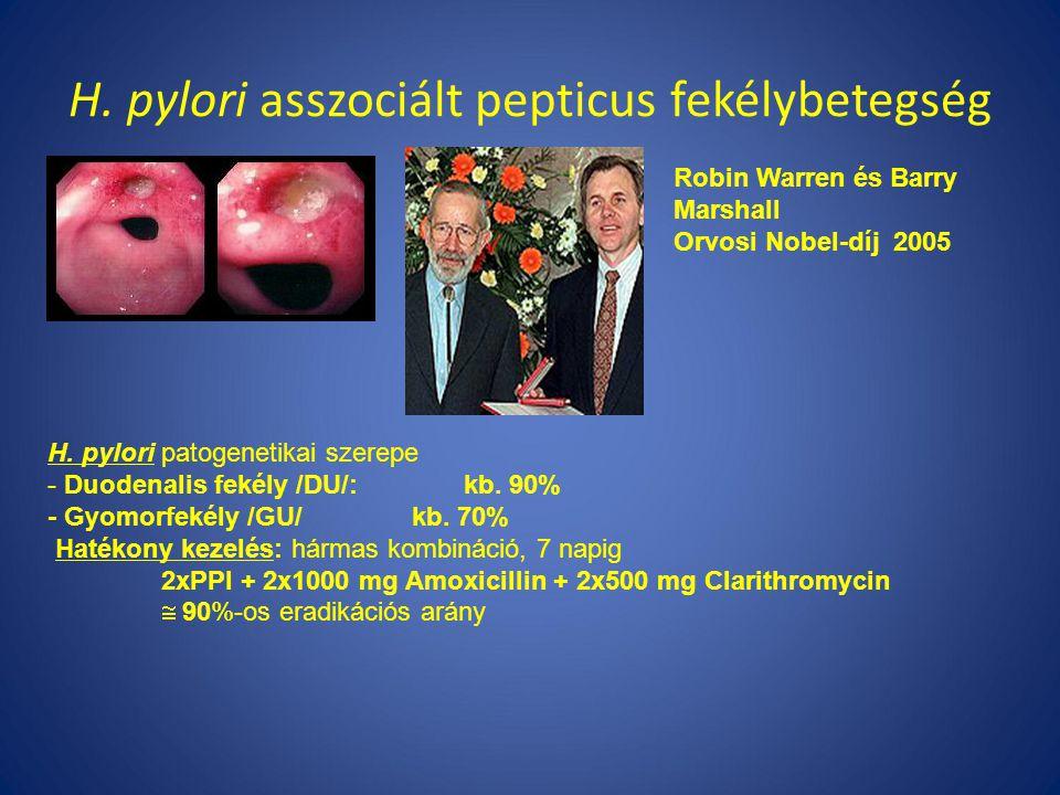 H. pylori asszociált pepticus fekélybetegség