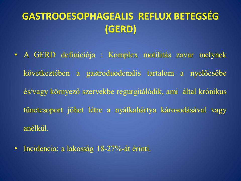 GASTROOESOPHAGEALIS REFLUX BETEGSÉG (GERD)