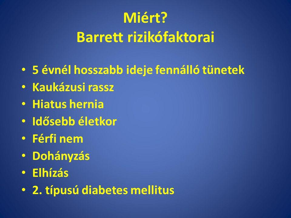 Miért Barrett rizikófaktorai