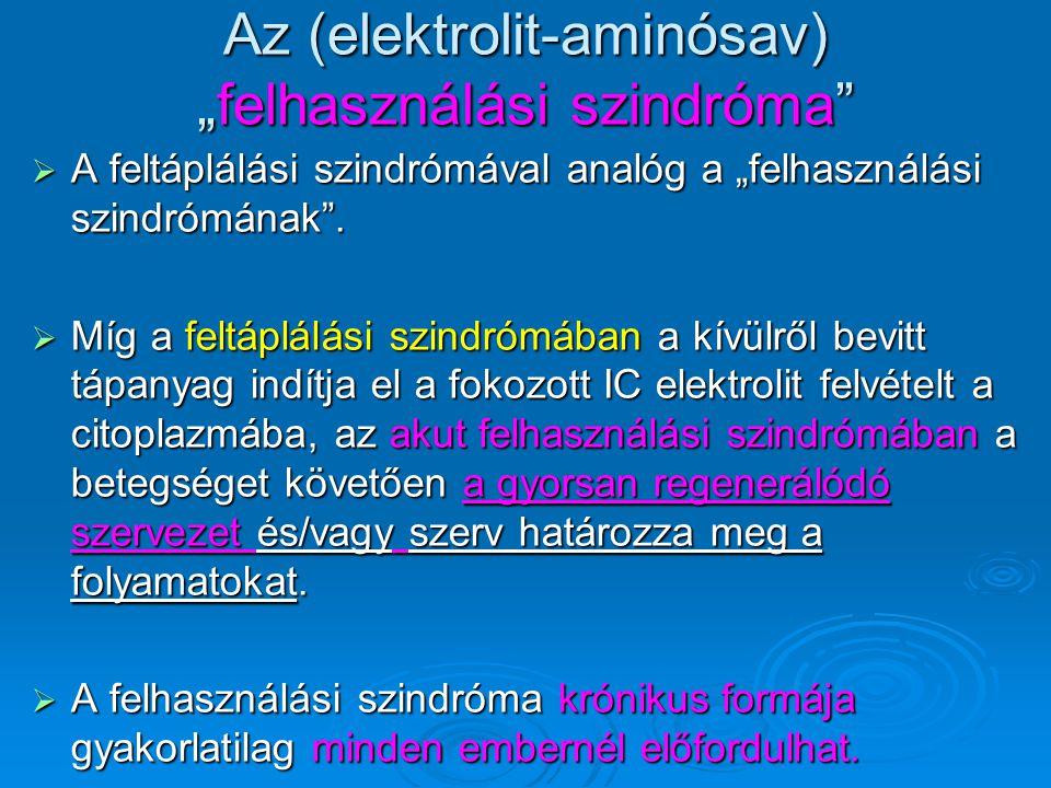 """Az (elektrolit-aminósav) """"felhasználási szindróma"""