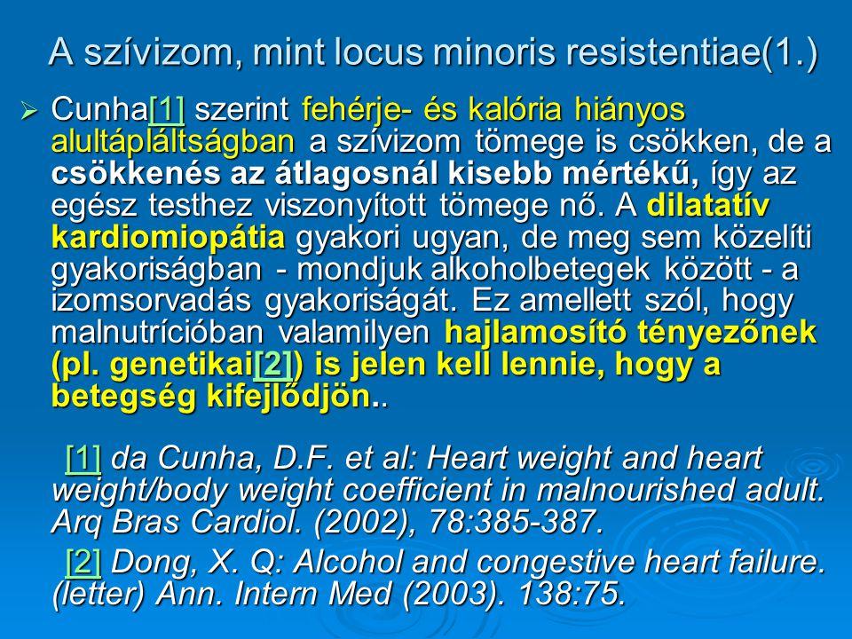 A szívizom, mint locus minoris resistentiae(1.)