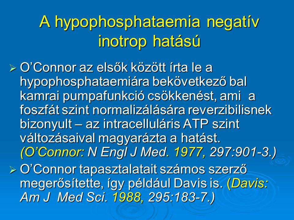 A hypophosphataemia negatív inotrop hatású