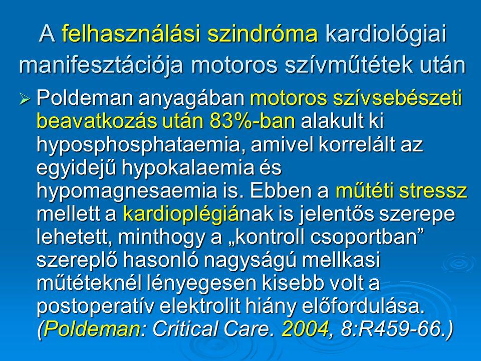 A felhasználási szindróma kardiológiai manifesztációja motoros szívműtétek után