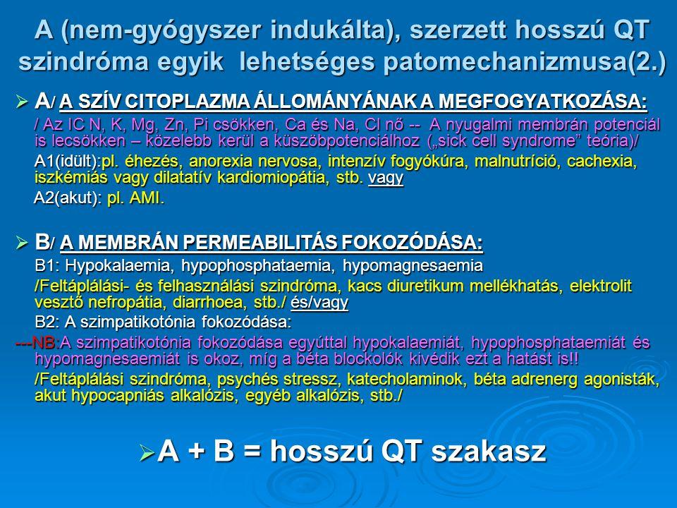 A (nem-gyógyszer indukálta), szerzett hosszú QT szindróma egyik lehetséges patomechanizmusa(2.)