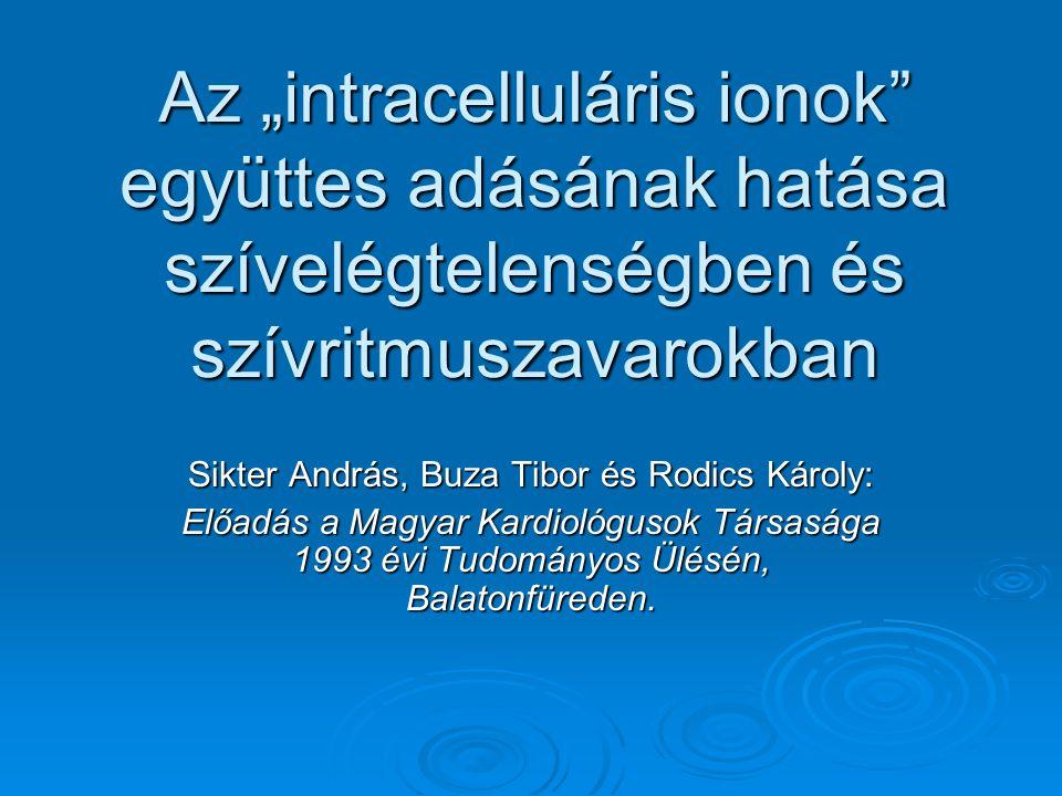 Sikter András, Buza Tibor és Rodics Károly: