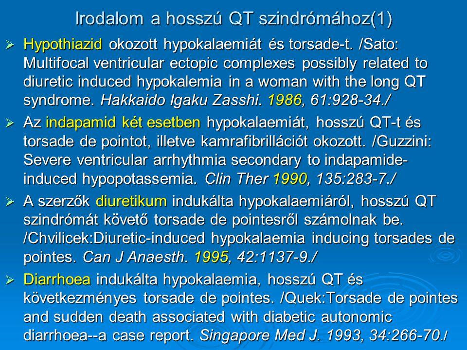 Irodalom a hosszú QT szindrómához(1)