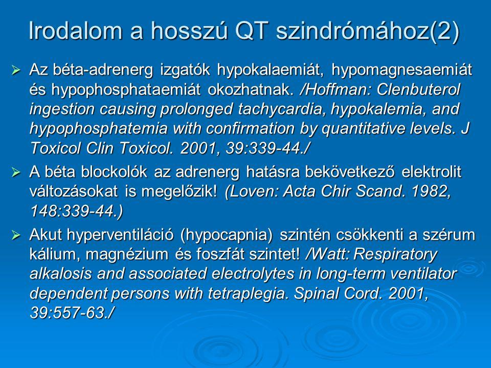 Irodalom a hosszú QT szindrómához(2)