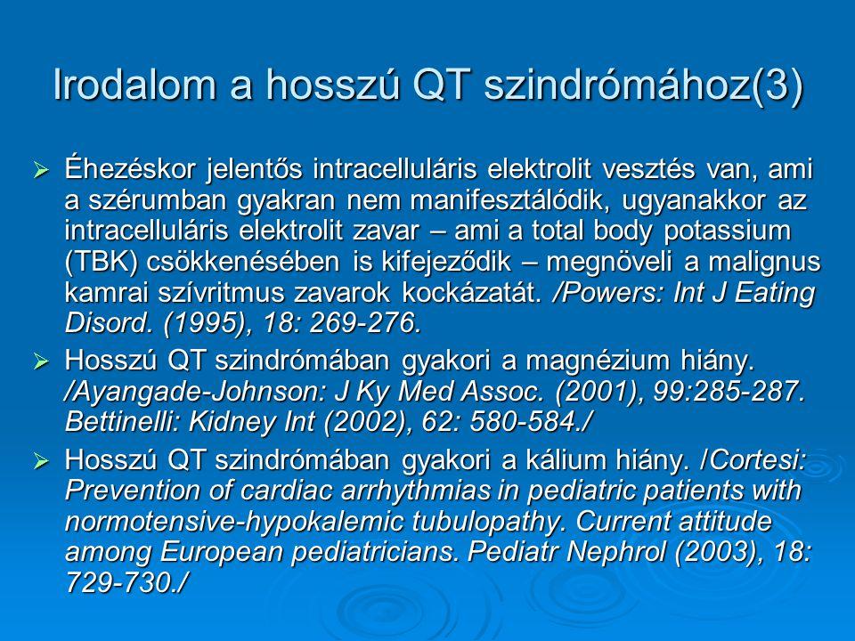 Irodalom a hosszú QT szindrómához(3)