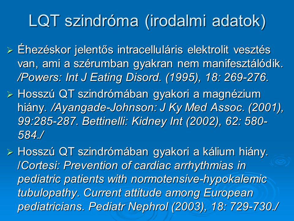 LQT szindróma (irodalmi adatok)