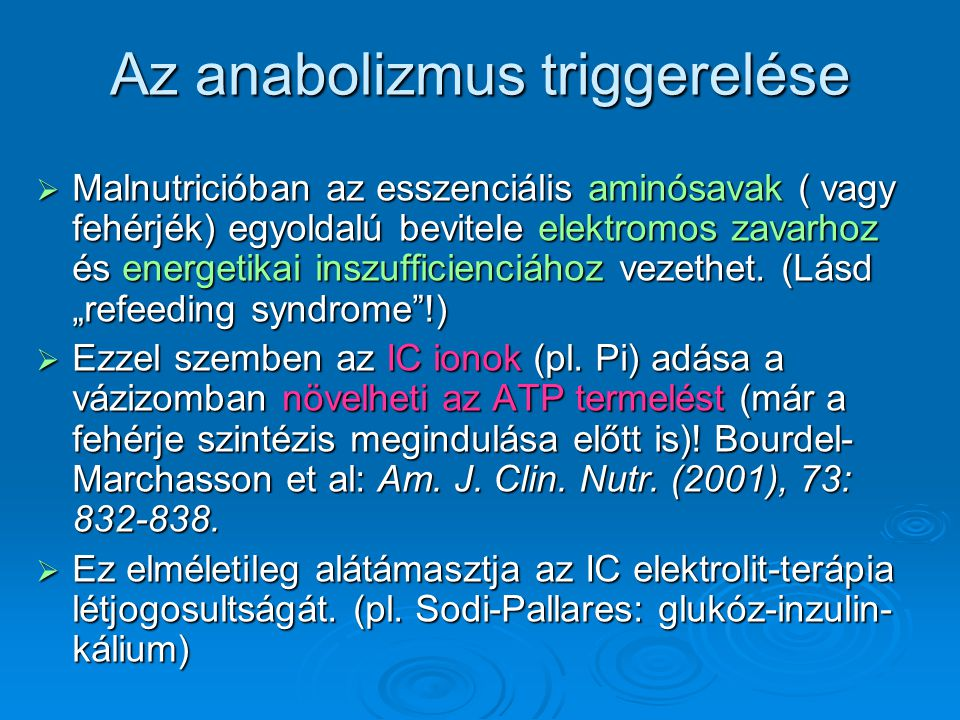 Az anabolizmus triggerelése