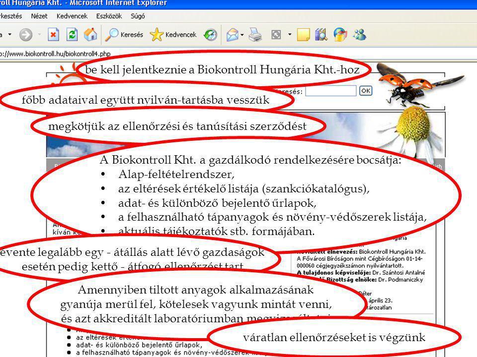 """4. mítosz: """"Átverés! be kell jelentkeznie a Biokontroll Hungária Kht.-hoz. főbb adataival együtt nyilván-tartásba vesszük."""
