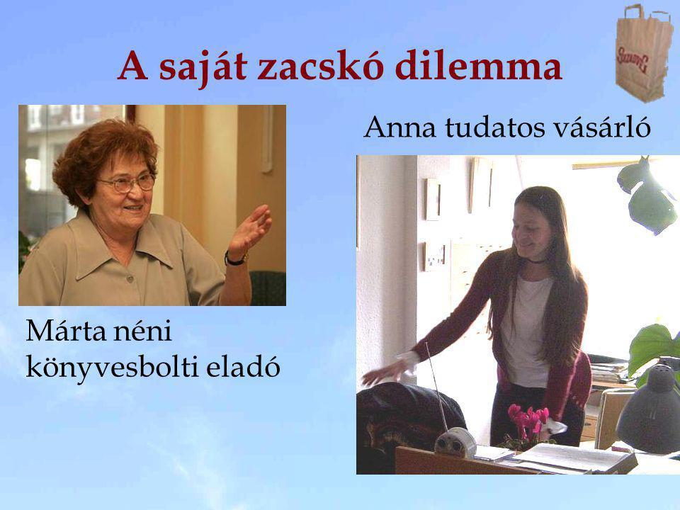 A saját zacskó dilemma Anna tudatos vásárló