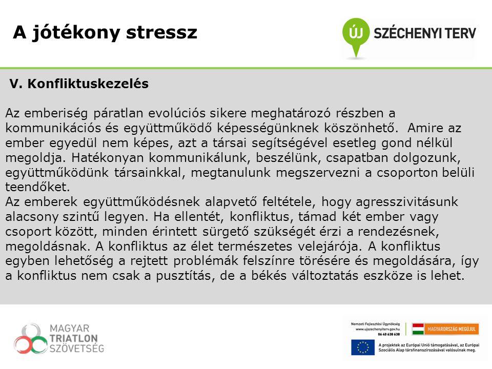 A jótékony stressz V. Konfliktuskezelés