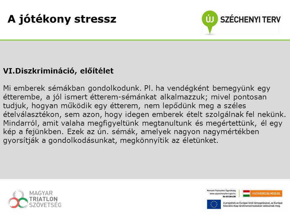 A jótékony stressz VI.Diszkrimináció, előítélet