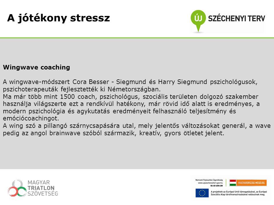 A jótékony stressz Wingwave coaching