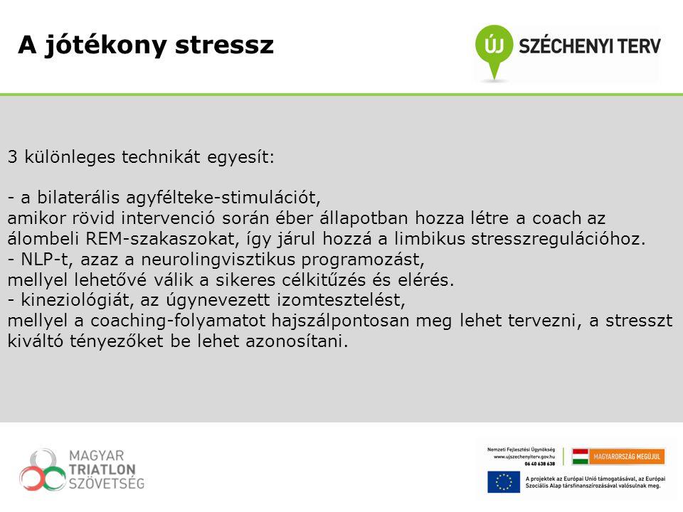 A jótékony stressz 3 különleges technikát egyesít: