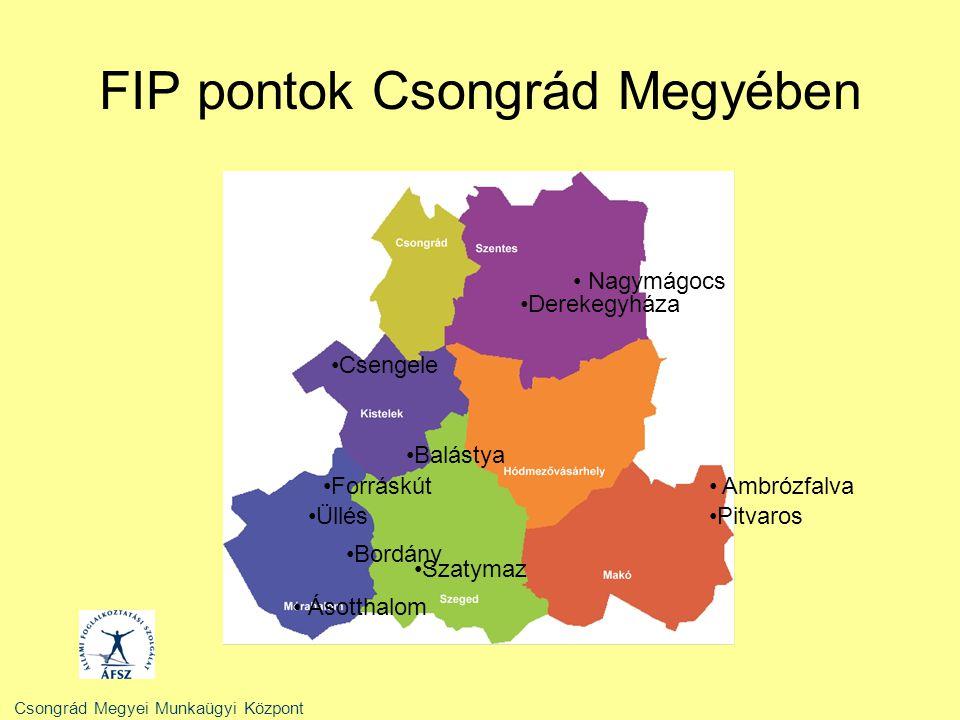 FIP pontok Csongrád Megyében