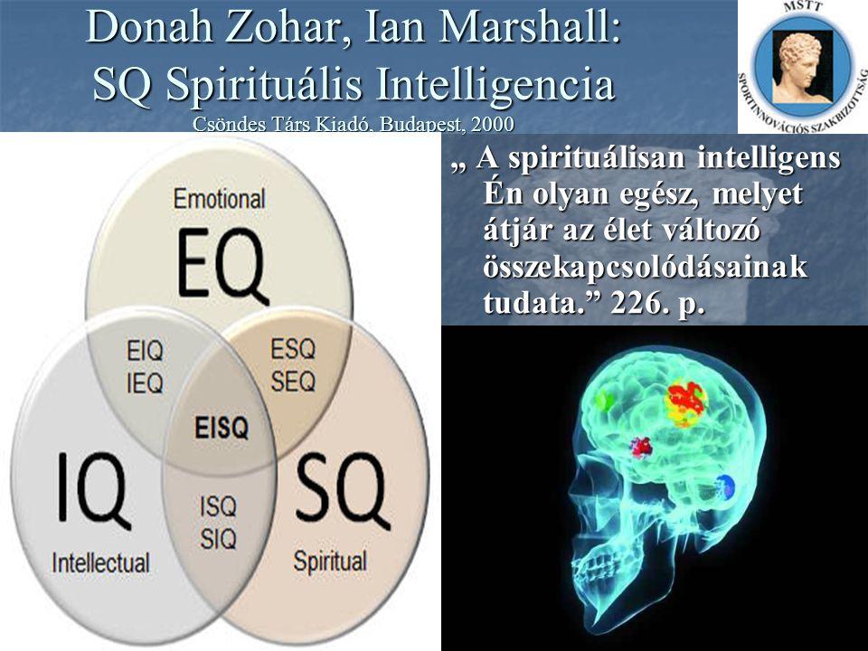 Donah Zohar, Ian Marshall: SQ Spirituális Intelligencia Csöndes Társ Kiadó, Budapest, 2000