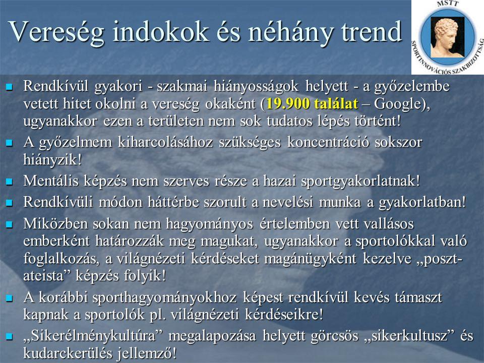 Vereség indokok és néhány trend