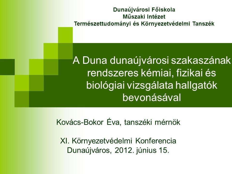 Dunaújvárosi Főiskola Természettudományi és Környezetvédelmi Tanszék