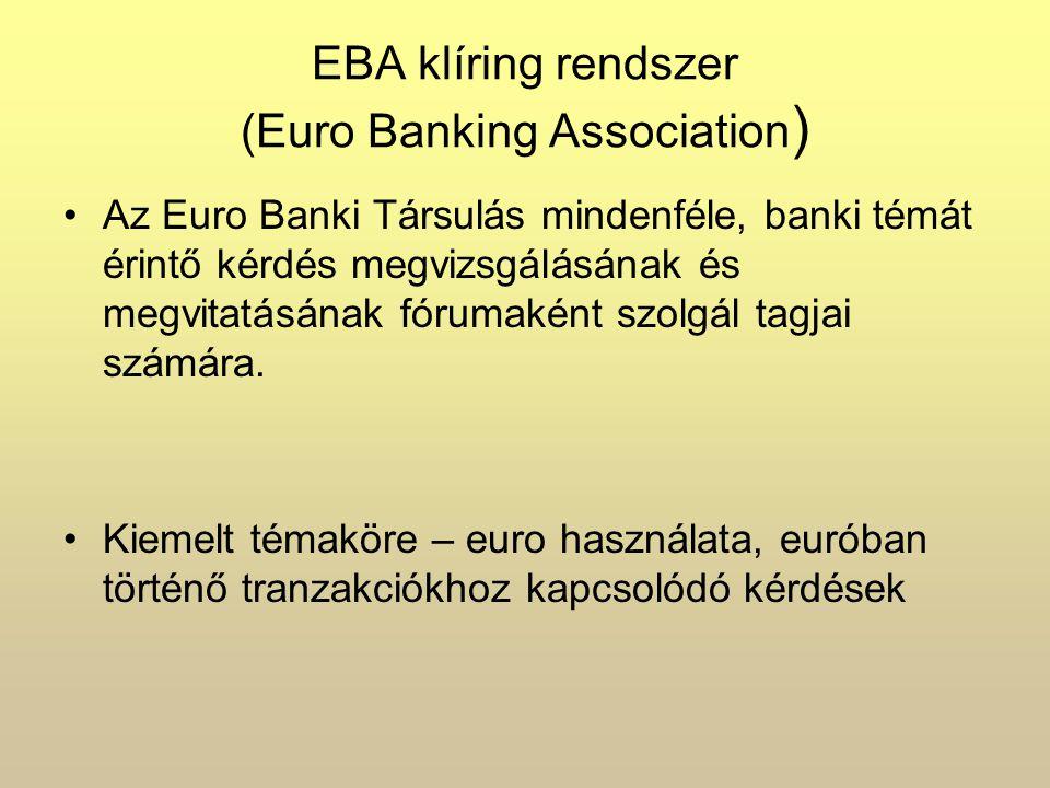EBA klíring rendszer (Euro Banking Association)
