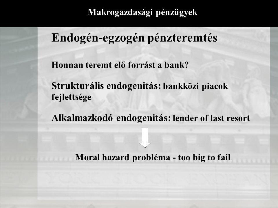 Endogén-egzogén pénzteremtés