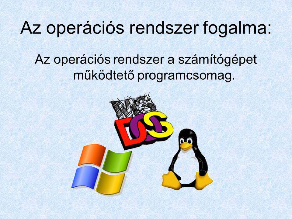 Az operációs rendszer fogalma: