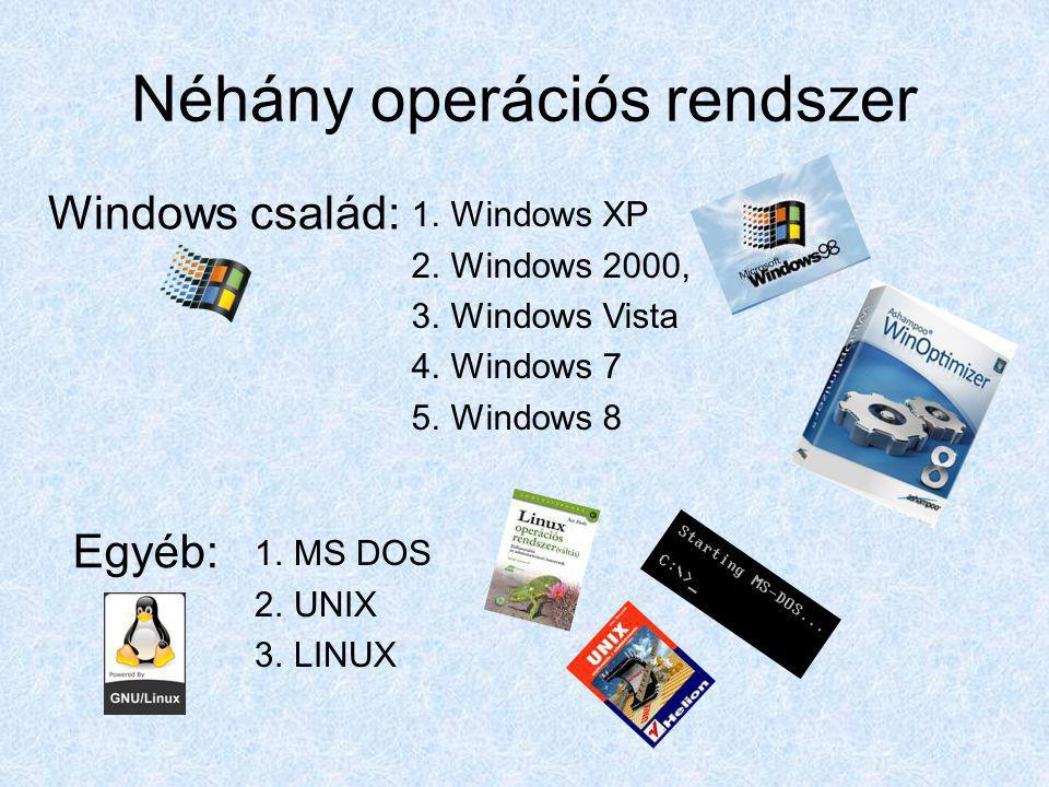 Néhány operációs rendszer