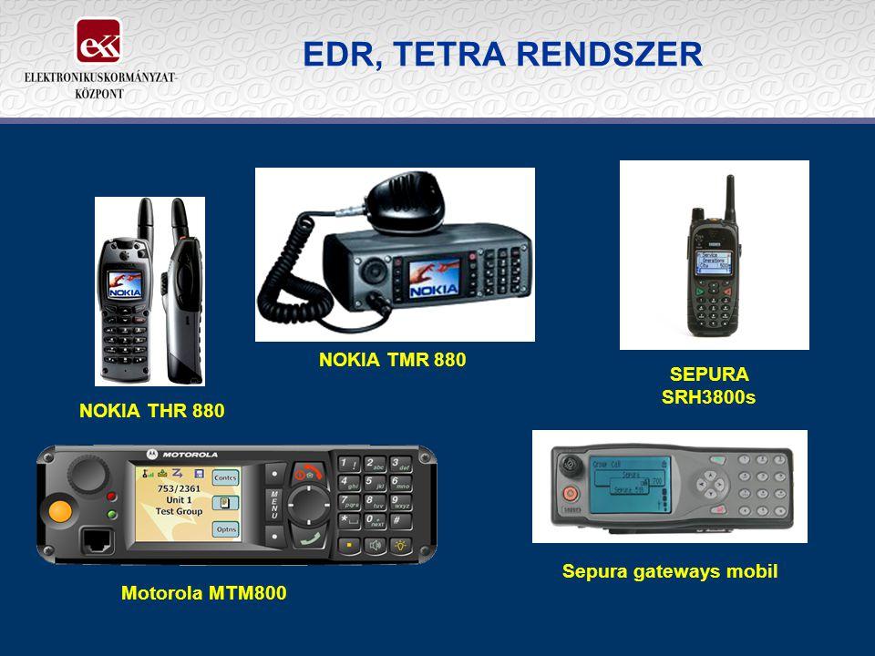 EDR, TETRA RENDSZER NOKIA TMR 880 SEPURA SRH3800s NOKIA THR 880