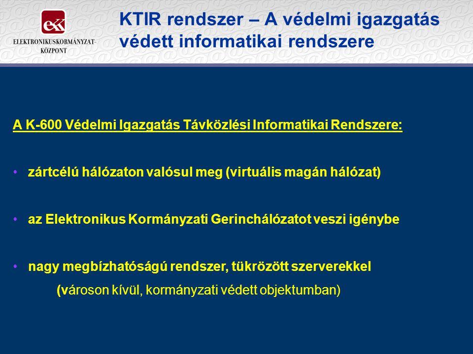 KTIR rendszer – A védelmi igazgatás védett informatikai rendszere