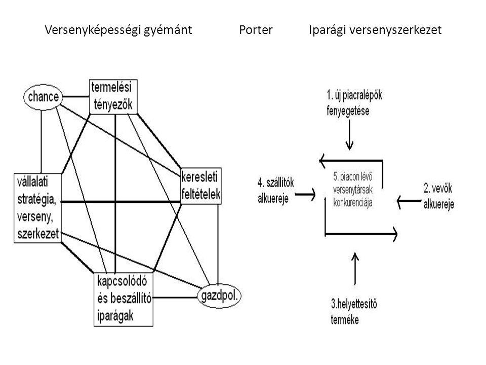 Versenyképességi gyémánt Porter Iparági versenyszerkezet