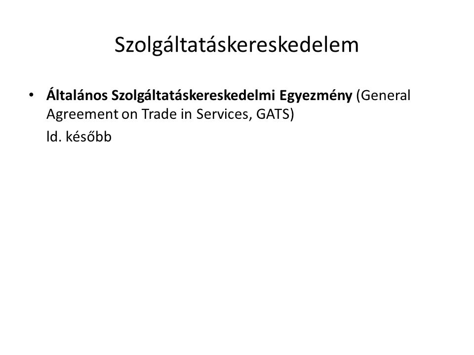 Szolgáltatáskereskedelem